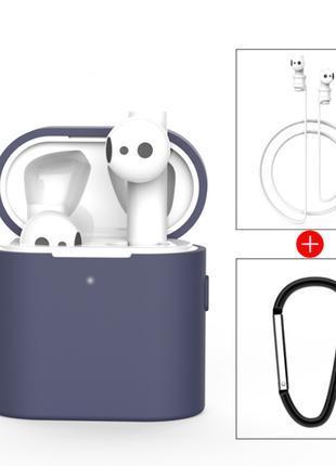 Чехол для наушников Xiaomi Mi Air 2, синий