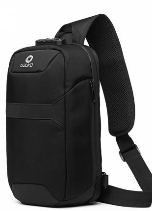 Однолямочный рюкзак Ozuko 9270 мужской городской с кодовым замком