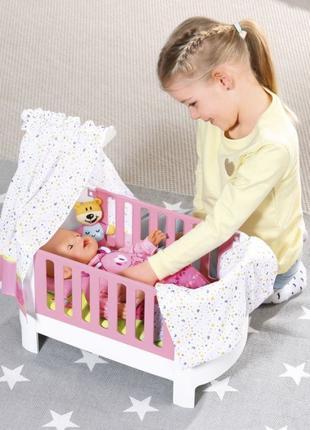 Кроватка для куклы Baby Born Спокойной ночи 827420 беби борн zapf