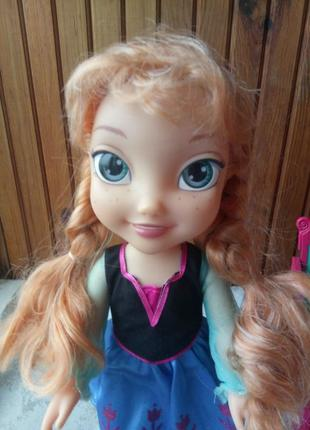 Большая кукла Анна в наборе с Олафом и санями Disney Frozen Ad...