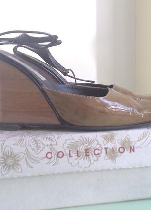 Женские летние туфли, сабо, мюли на танкете размер 40