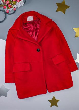 Шерстяное пальто zara на 9 лет/134 см