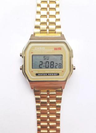 Часы Электронные ретро gold