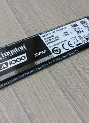 SSD диск 240GB M2 (NVMe) Kingston A1000 как новый чтение 1500мб (