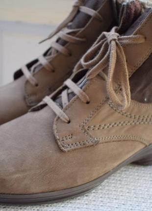 Кожаные зимние ботинки полусапоги на овчине jenny by ara р.39 ...