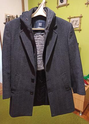 Пальто демисезонное мальчик + куртка в подарок