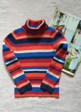 Яркий свитер с высоким воротом на девочку 4 лет next