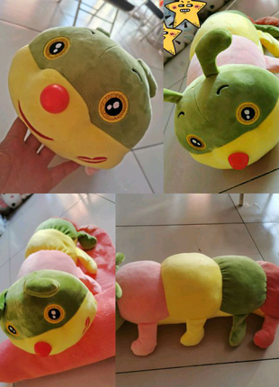 Детская игрушка с пледом, игрушка плед подушка