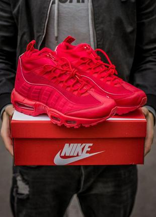 Кросівки   nike air max 95 sneakerboot red  кроссовки