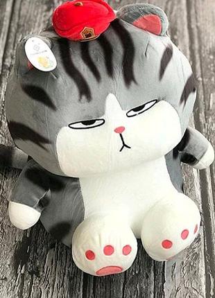 Игрушка плед для детей, мягкая игрушка с пледом в виде кота