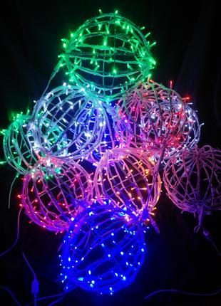 Светодиодный шар, олени для новогоднего и праздничного оформления