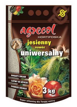 Удобрение Agrecol (Агрикол) хортифоска осеннее универсальное 3 кг