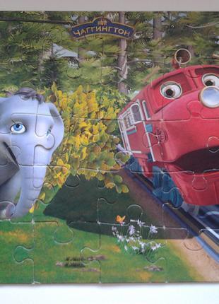 Пазл 30 элементов Castorland Чаггингтон «Уилсон и слоненок»