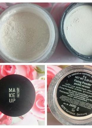 Make up factory рассыпчатая фиксирующая пудра