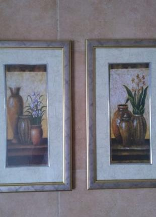 Картина диптих в рамке