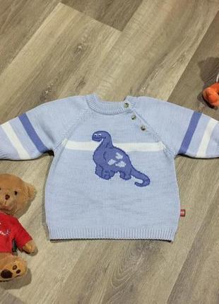 Милый хлопковый свитерок с динозавром ,на 12\18 мес !прелесть !