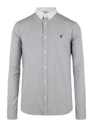 Рубашка с белым воротником allsaints