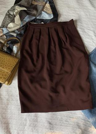 Брендовая шерстяная юбка карандаш 42р
