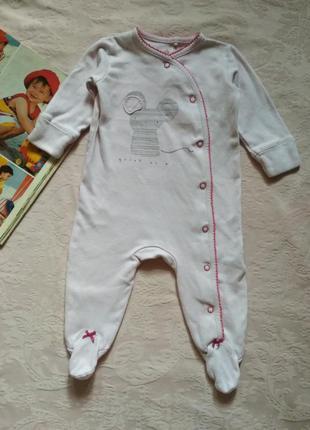 Человечек комбинезон слип на девочку 3-6 месяцев next