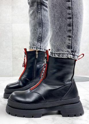 Женские стильные ботинки зимние