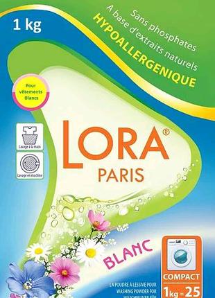 Стиральный порошок Lora Paris для белого белья, 1 кг Original