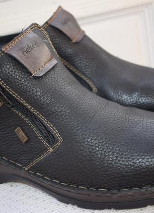 Кожаные  мембранные ботинки полусапоги  термоботинки rieker te...