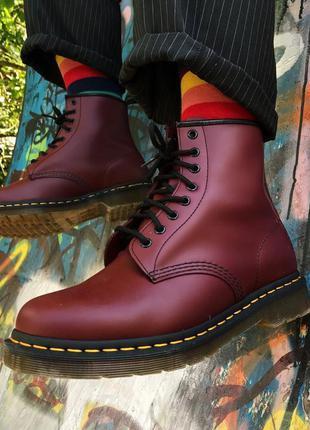 Ботинки dr. martens оригинал марсала бордо