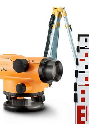 АКЦИЯ! Нивелир оптический N24x комплект: нівелір + штатив + рейка
