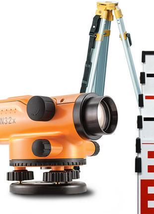 АКЦИЯ! Нивелир оптический N32x комплект: нівелір + штатив + рейка