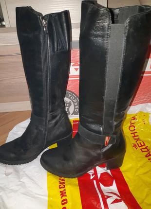 Сапоги черные 38 размер