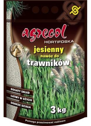 Удобрение Agrecol (Агрикол) хортифоска осеннее для газонов 3 кг