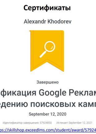 Создание продающего сайта + настройка рекламы Google Ads