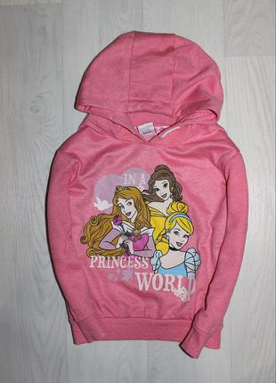 Худи джемпер капюшонка с принцессами 3-4