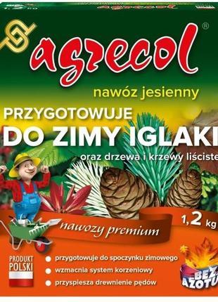 Удобрение Agrecol (Агрикол) осеннее для хвойных растений 1.2 кг
