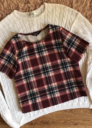 Блуза топ в клетку (11лет)
