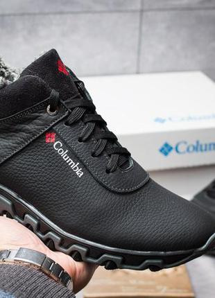 Мужские зимние ботинки columbia 🔥натуральная кожа, зима