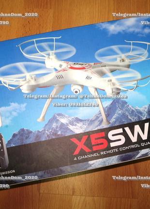 Квадрокоптер X5SW-1 с Wi-Fi камерой. Дрон
