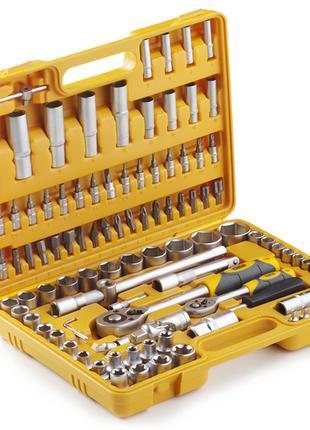 Набор головок 108 шт. 1/4 1/2 c трещоткой стандарт СИЛА