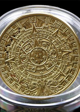 Сувенирная монета Календарь Майя Gold вид 1