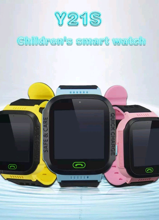 Детские часы Smart Baby watch Y21S Sim +GSM