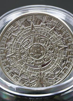 Сувенирная монета Календарь Майя Silver вид 1