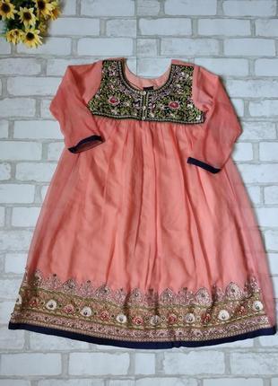 Платье костюм на девочку в индийском стиле вышивка камни