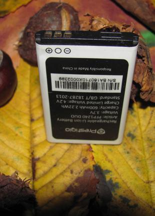 Аккумулятор для мобильного телефона Prestigio .3,7v , 600mAh,
