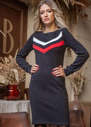 Платье  цвет чёрно-красный