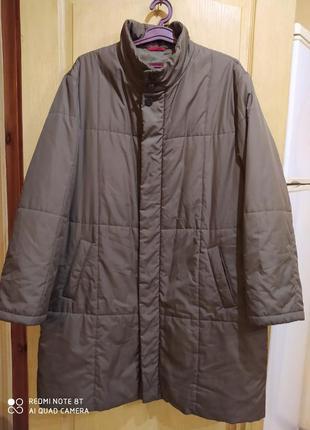 Большой размер! куртка стеганое пальто деми зима пог 68 см
