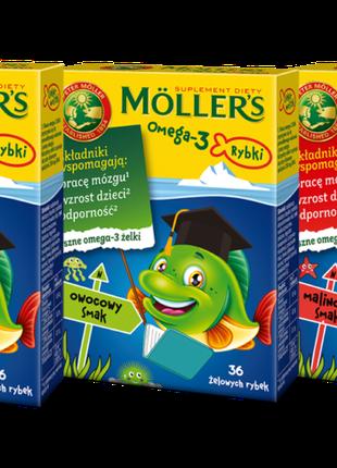 Mollers желейні рибки.Рибячий жир Моллерс