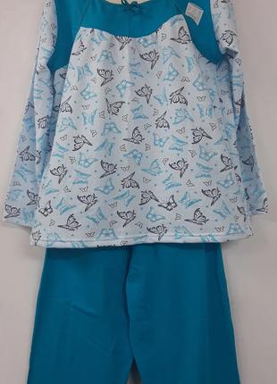 Теплая женская пижама /байковая пижама /пижама с начесом