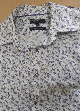 Стильная мужская рубашка в цветах marks&spencer