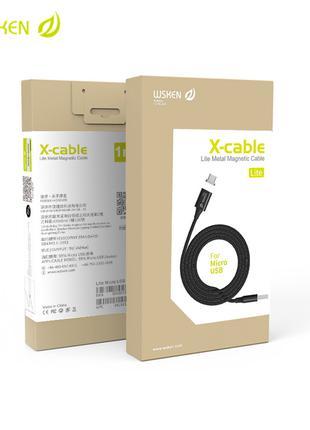 Wsken Lite магнитный USB type-c кабель с быстрой зарядкой 3А 1 м