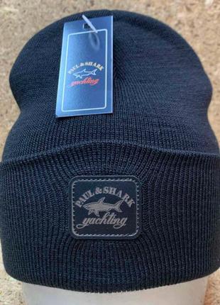 Зимняя шапка 2020 Paul&Shark в разных цветах с нашивкой